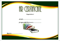 Super AR Certificate Template FREE Download