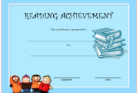Top Reading Achievement Certificate Template FREE Download