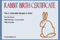 rabbit birth certificate free, rabbit birth certificate template, free printable rabbit birth certificate, bunny birth certificate template, peter rabbit birth certificate