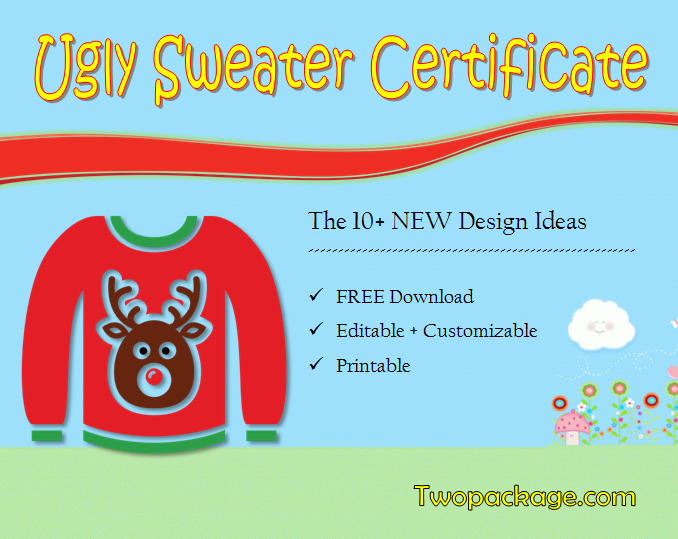 ugly sweater certificate template, ugly sweater award certificate template, ugly christmas sweater award certificate template, ugly sweater winner certificate template, free printable ugly sweater certificate template, ugly sweater contest winner certificate template