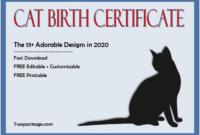 cat birth certificate template, cat birth certificate free printable, kitten birth certificate template, birth certificate template for cat, pet birth certificate template