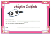 Adorable Kitten Adoption Certificate Free Printable