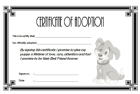 BW Puppy Adoption Certificate FREE Printable