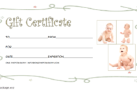 Baby Photoshoot Gift Certificate Template FREE Printable