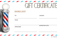 Barber Gift Voucher Template FREE Printable 1
