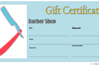 Barber Gift Voucher Template FREE Printable 3