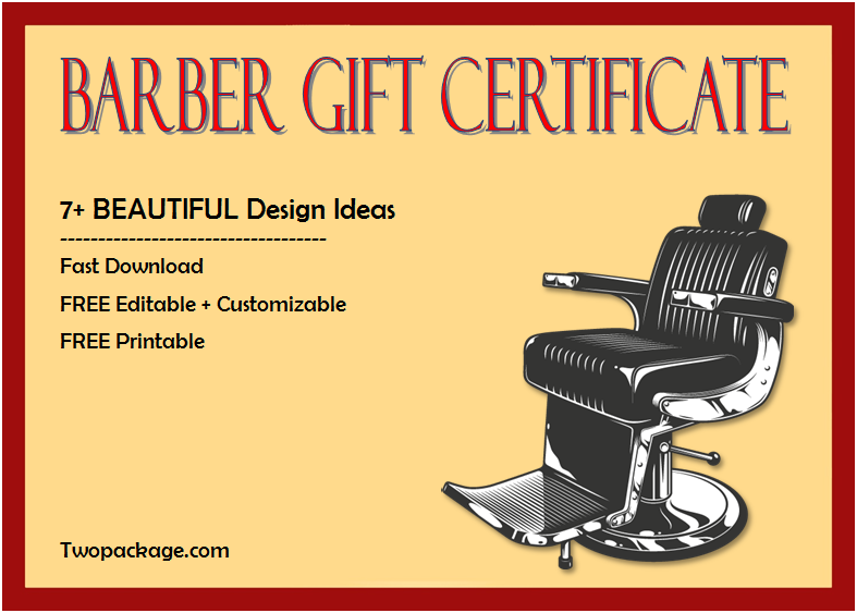haircut gift certificate template free, barber shop gift certificate template free, barber gift voucher template, barber gift certificate template christmas
