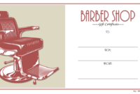 Barber Shop Gift Certificate Template Free Printable 1