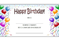 Birthday Gift Certificate Template Free (Baloon 1)