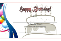 Birthday Gift Certificate Template Free (Baloon 2)