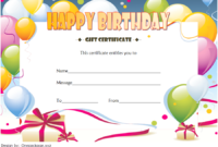 Birthday Gift Certificate Template Free (Baloon 3)