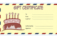 Birthday Gift Certificate Template Free Download