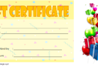 Birthday Gift Certificate Template Free Printable (Best Choice)