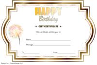 Birthday Gift Certificate Template Free Printable (Vintage)