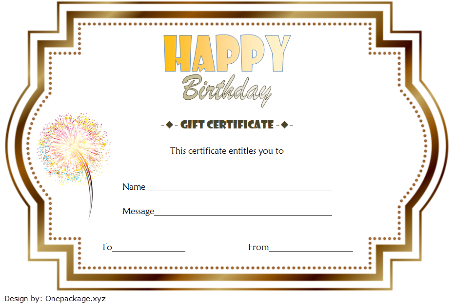 Birthday Gift Certificate Template Free Printable (Vintage); happy birthday gift certificate template, birthday gift certificate template microsoft word, birthday gift voucher printable, happy birthday gift voucher