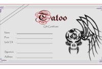 Blank Tattoo Gift Certificate Template FREE Printable 1
