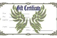 Blank Tattoo Gift Certificate Template FREE Printable 2