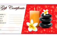 Christmas Massage Gift Certificate Template Free
