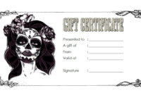 Dark Tattoo Shop Gift Certificate Template FREE