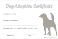 Dog Adoption Certificate Free Printable (No Border)