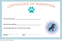Dog Adoption Certificate Free Printable (Official Design)