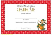 Elf Adoption Certificate Free Printable Template (Christmas Theme)