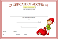 Elf on The Shelf Adoption Certificate Printable FREE 1