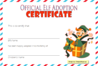 Elf on The Shelf Adoption Certificate Printable FREE 2