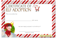 Elf on The Shelf Adoption Certificate Printable FREE 3