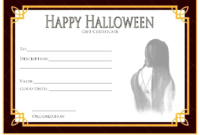 FREE Halloween Gift Certificate Template 1