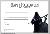 FREE Halloween Gift Certificate Template 2
