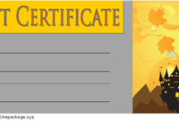 FREE Halloween Gift Certificate Template 3