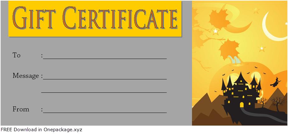halloween gift certificate template, halloween gift certificates, halloween certificate template