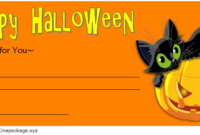 FREE Halloween Gift Certificate Template 4
