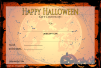 FREE Halloween Gift Certificate Template 5
