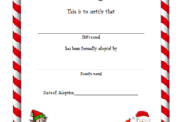FUNNY Elf Adoption Certificate Free Printable Template