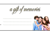 Family Photoshoot Gift Certificate Template FREE Printable