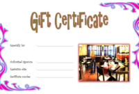 Free Chinese Restaurant Gift Certificate Template