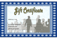 Free Montreal Restaurant Gift Certificate Template
