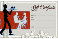 Free NYC Restaurant Gift Certificate Template