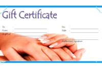 Free Printable Manicure Gift Certificate Template (1st Ver)