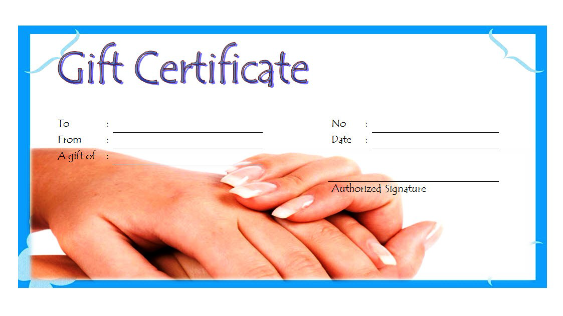 free printable manicure gift certificate template, pedicure gift certificate template free, nail salon gift certificate template free, manicure gift certificate template free