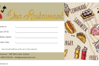 Free Printable Restaurant Gift Certificate Template (2nd Design)