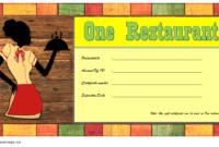 Free Printable Restaurant Gift Certificate Template Toronto