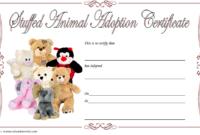 Free Stuffed Animal Adoption Certificate Printable