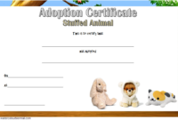 Free Stuffed Animal Adoption Certificate Printable (Zoo Theme)