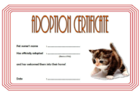Funny Kitten Adoption Certificate Free Printable