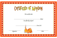 Funny Kitten Adoption Certificate Template Free