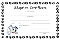 Funny Puppy Adoption Certificate FREE Printable