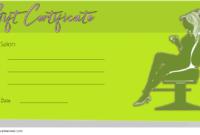 Hair Salon Gift Certificate Template Free Printable 2
